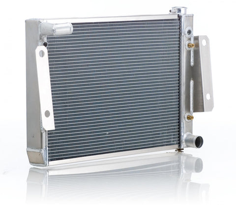 Radiator Direct-Fit Polished Finish for 74-88 Jeep J-Series w/Auto Trans Be Cool Radiator