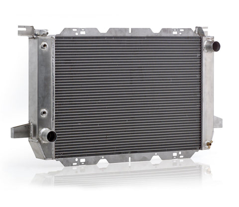 Radiator Direct-Fit Polished Finish for 85-95 Ford Bronco/F150 w/Auto Trans Be Cool Radiator