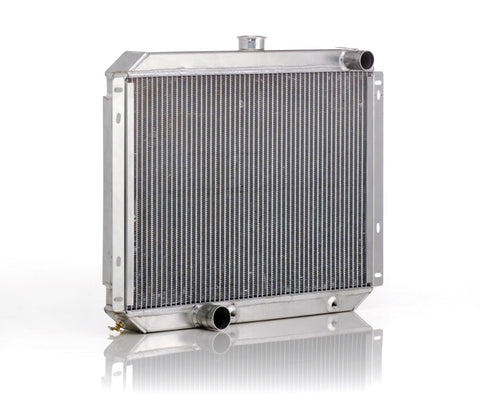 Downflow Radiator Direct-Fit Polished Finish for 53-56 Ford F100/F250, Mercury M100/M250/M350 Pickup Truck w/Auto Trans Be Cool Radiator