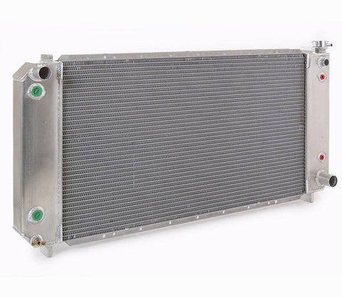 Radiator Direct-Fit Natural Finish for 88-99 Chevrolet/GM C/K 1500/2500/3500 Pickups w/Dual Coolers 40 Inch W Be Cool Radiator
