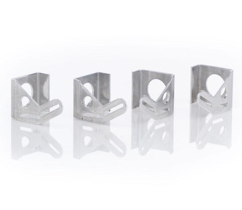 Natural Finish Aluminum Mounting Brackets Set of 4 For 13 Inch Fan Installation Be Cool Radiator