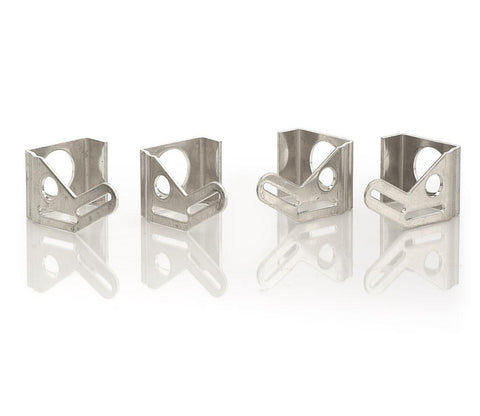 Natural Finish Aluminum Mounting Brackets Set of 4 For 16 Inch Fan Installation Be Cool Radiator