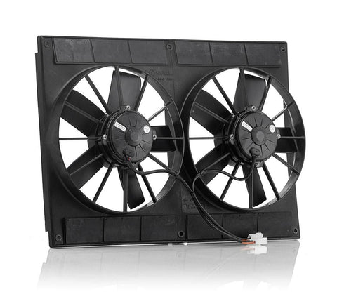 11 Inch Electric Dual Puller Fans Euro Black High Torque Be Cool Radiator