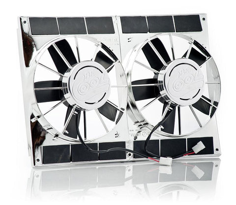 11 Inch Electric Puller Fans Chrome Plated High Torque Dual Be Cool Radiator
