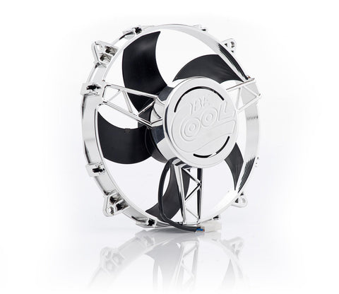 11 Inch Electric Puller Fan Chrome Plated High Torque Be Cool Radiator