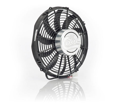 13 Inch Puller Fan w/Billet Cover Aluminator Euro Black Be Cool Radiator
