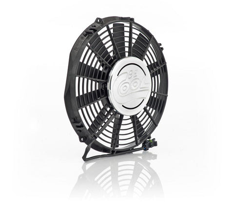 11 Inch Puller Medium Profile Fan w/Billet Cover Aluminator Euro Black Be Cool Radiator