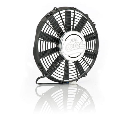 12 Inch Puller Medium Profile Fan w/Billet Cover Aluminator Euro Black Be Cool Radiator