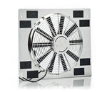 16 Inch Medium Profile Puller Fan Show and Go Stainless Shroud 22 Inch W x 18 Inch H w/Chrome Be Cool Radiator
