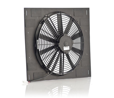 16 Inch Qualifier Euro Black Shroud 22 Inch W x 18 Inch H w/Euro Black Medium Profile Puller Fan Be Cool Radiator