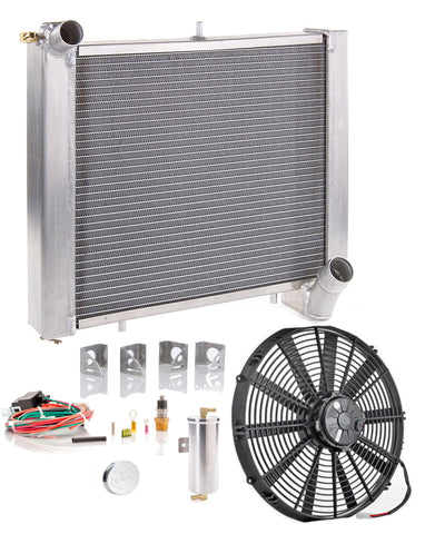 Radiator Module Direct-Fit Natural Finish for 66-77 Ford Bronco w/Std Trans Be Cool Radiator