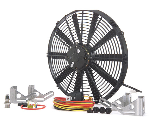 16 Inch High Torque Pusher Fan Module Single Euro Black Be Cool Radiator