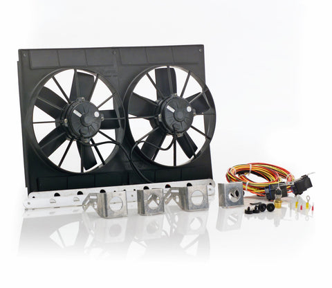 11 Inch High Torque Fan Module Dual Euro Black Be Cool Radiator