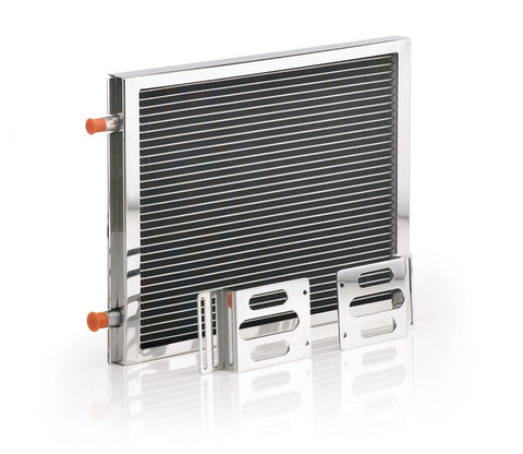 A/C Module w/Small Universal Condenser Polished Finish Be Cool Radiator