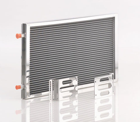 A/C Module w/Large Universal Condenser Polished Finish Be Cool Radiator
