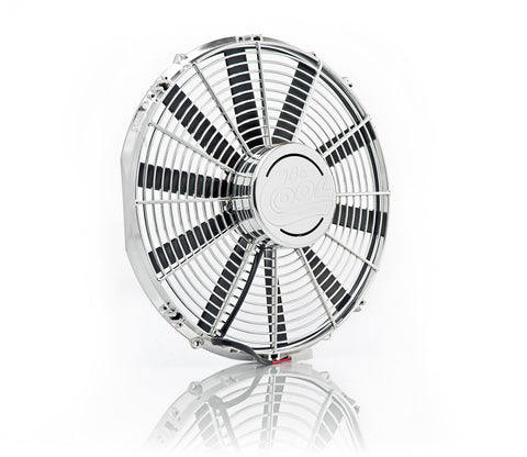 16 Inch High Torque Pusher Fan Module Single Chrome Plated Be Cool Radiator
