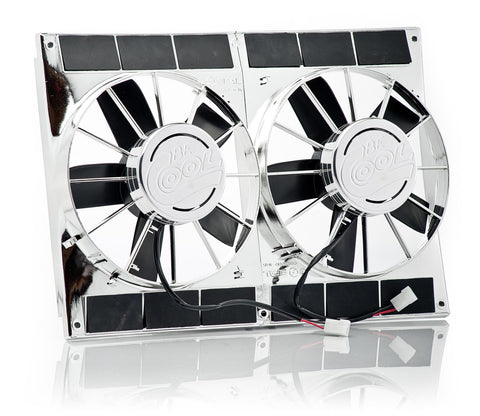 11 Inch High Torque Puller Fan Module Dual Chrome Plated Be Cool Radiator
