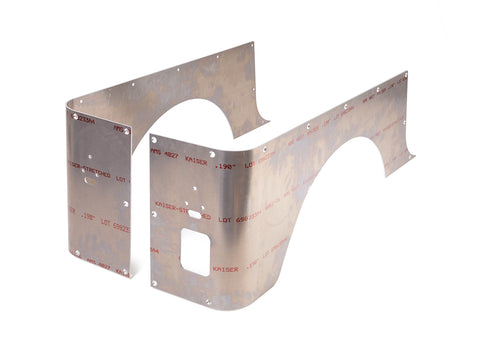 Jeep Corner Guard Set Standard 76-86 CJ-7 Rear Aluminum Bare GenRight