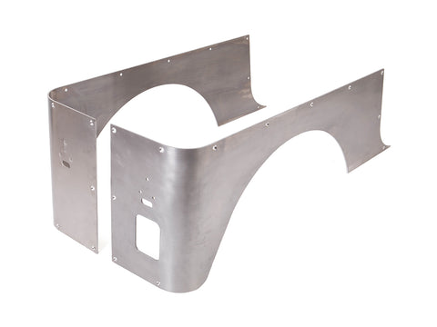 Jeep Corner Guard Set Stretch 76-86 CJ-7 Rear Aluminum Bare GenRight