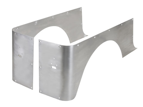 Jeep Corner Guard Set Full Stretch 87-95 Wrangler YJ Rear Aluminum Bare GenRight