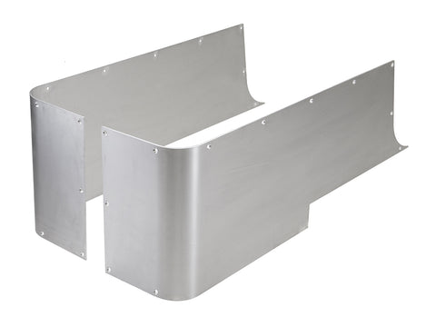 Jeep Corner Guard Set Blanks 76-06 Jeep TJ, YJ, CJ-7 Rear Aluminum Bare GenRight