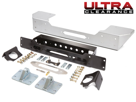 Jeep Bumper Stubby Ultra Clearance 07-Pres Wrangler JK, JKU Front Aluminum Bare GenRight