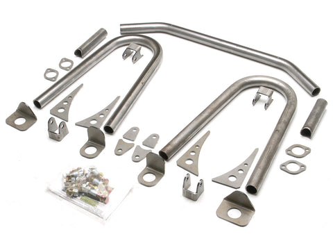Jeep Coilover Shock Hoop Kit Original Style 77-06 Jeep TJ, LJ, YJ, CJ Front Steel Bare GenRight