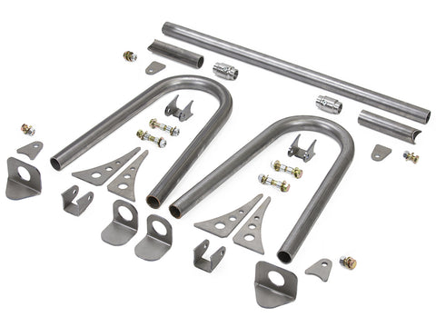 Jeep Coilover Shock Mount Kit w/Removable Center Support Front 77-06 Jeep TJ, LJ, YJ, CJ Steel Bare GenRight