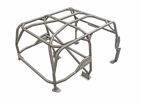 Jeep Roll Cage Kit Full Laser Notched 87-95 Wrangler YJ Steel Bare GenRight
