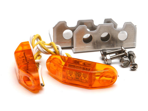 Jeep LED Stealth Side Marker Lights Pair Universal Amber GenRight