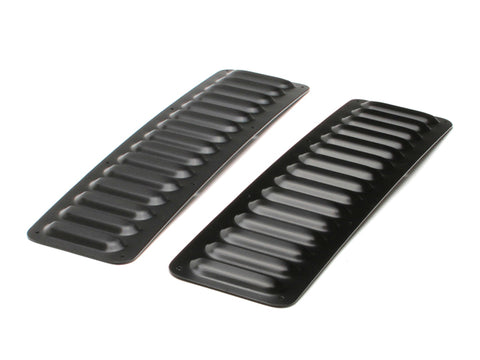 Jeep Hood Louver 2 Piece Set Long 76-Present Jeep TJ, LJ, JK, JKU, CJ Aluminum Black GenRight