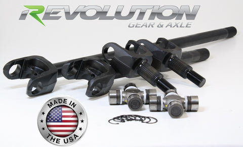 Dana 30 YJ MJ and XJ 30Spl 4340 Chromoly US Made Front Axle Kit 1987-95 w/Disconnect Eliminator and E-Locker Revolution Gear and Axle