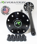 Dana 44 4140 Chromoly US Made Rear Axle Kit 1987-06 Jeep 30Spl with E-Locker Revolution Gear and Axle