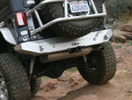 Jeep Bumper w/Tow Points Rear 07-Pres Wrangler JK, JKU Aluminum Bare GenRight