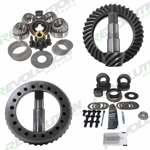 Jeep TJ and 1996-04 Grand Cherokee 4.56 Ratio Gear Package (D35-D30) with Koyo Bearings Revolution Gear and Axle