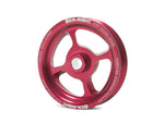 Jeep Power Steering Pulley Vented 97-06 Wrangler TJ Aluminum Red GenRight