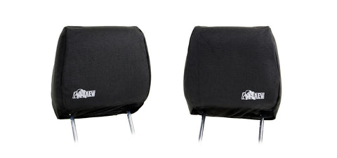 Front Headrest Covers - Black '11+ w/ AEV Logo