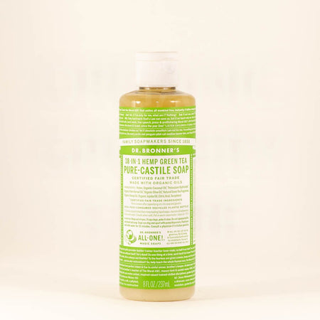 DR BRONNERS GREEN TEA LIQUID SOAP 237ML