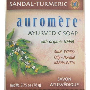 AUROMERE SANDAL SOAP BAR 78G
