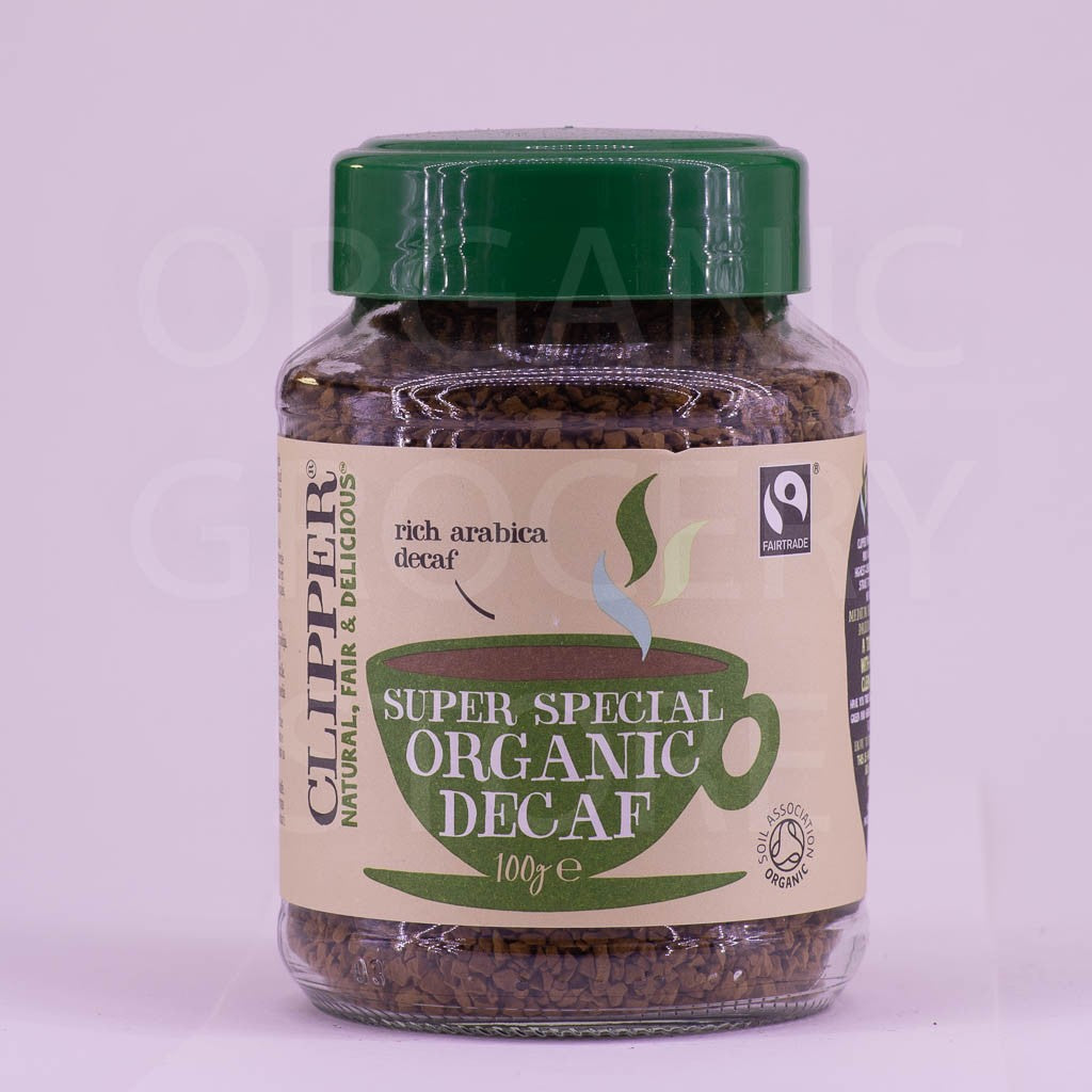 CLIPPER COFFEE INSTANT DECAF SUPER SPECIAL FT ORGANIC 100G