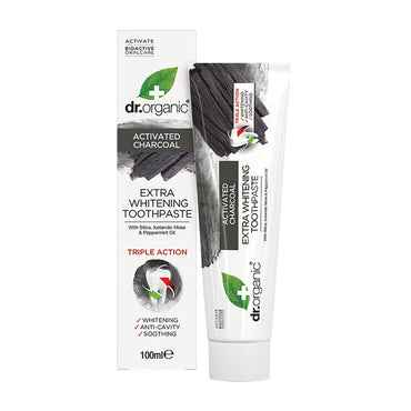DR ORGANIC TOOTHPASTE ACTIVATED CHARCOAL 100ML