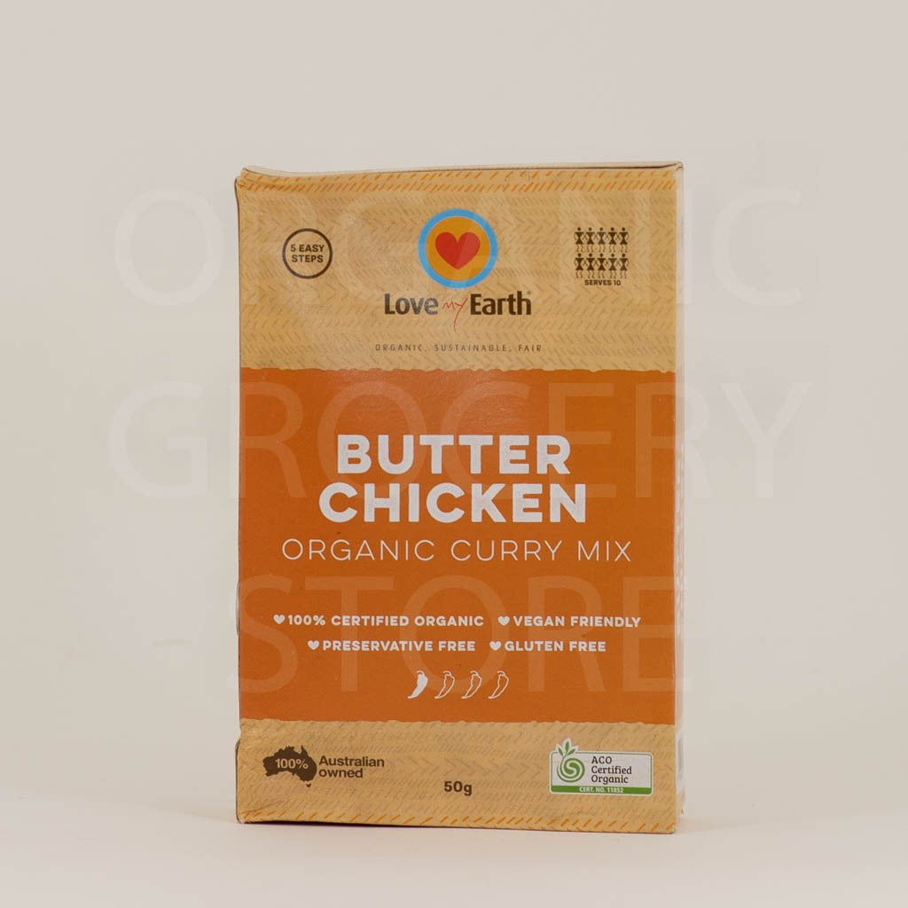 LOVE MY EARTH BUTTER CHICKEN ORGANIC CURRY MIX 50G