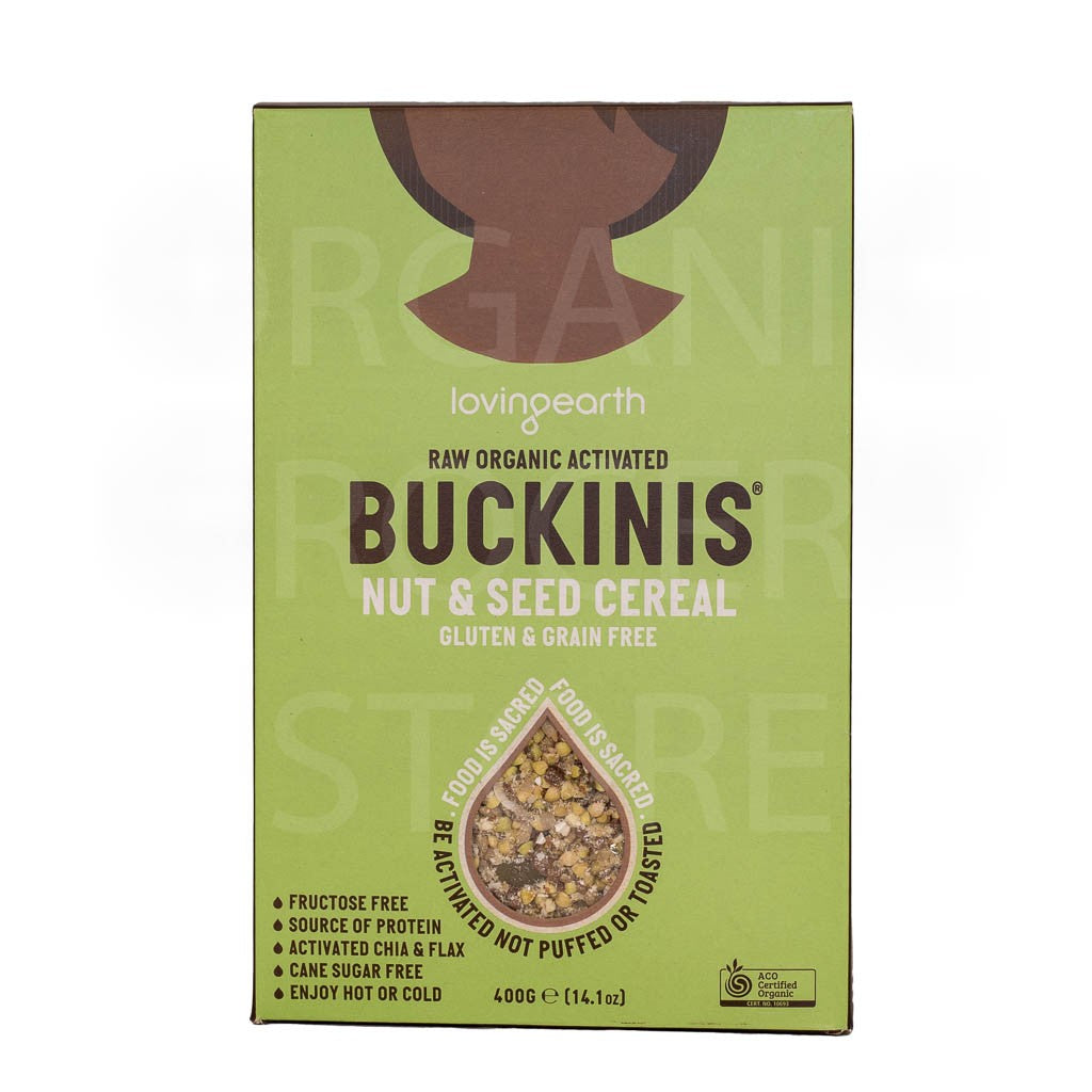 LOVING EARTH RAW ORGANIC ACTIVATED BUCKINIS NUT & SEED CEREAL 400G