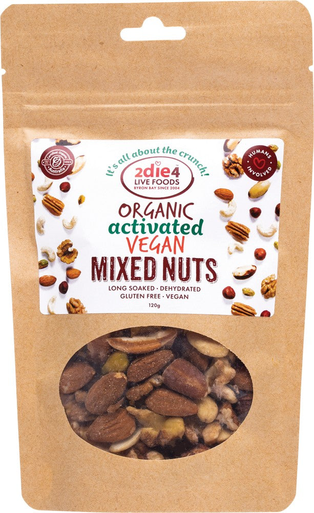 2DIE4 LIVE FOODS ACTIVATED ORGANIC VEGAN MIX 120G