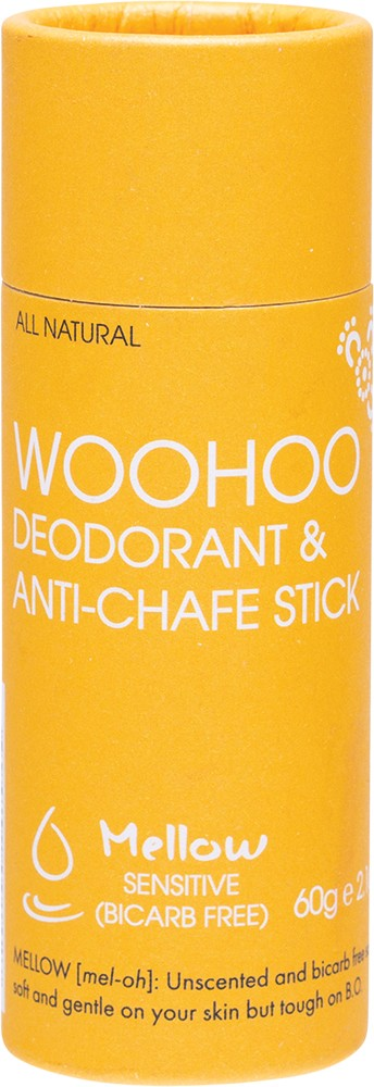 WOOHOO DEODRANT & ANTI-CHAFE STICK MELLOW SENSITIVE 60G