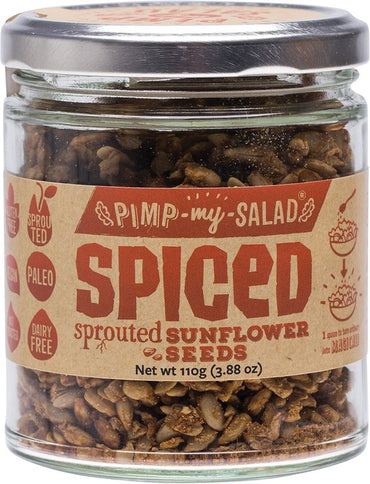 EXTRAORDINARY FOODS SPICED SUNFLOWER SEEDS 110G