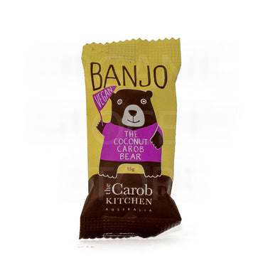 THE CAROB KITCHEN BANJO BEAR VEGAN COCONUT 15G