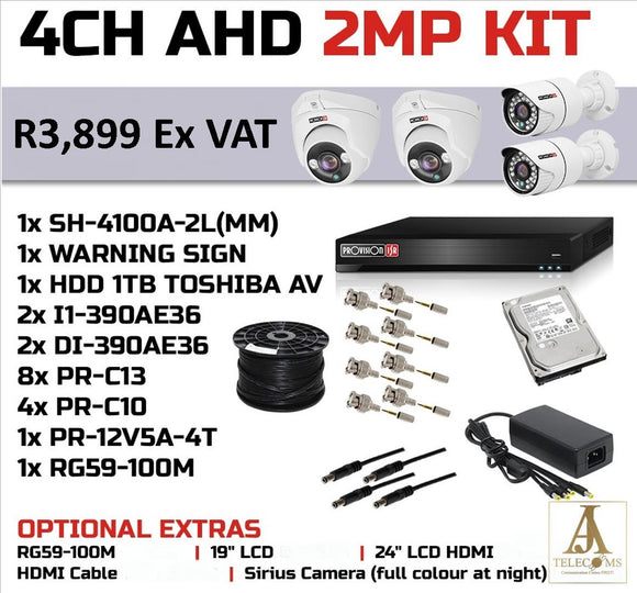 4CH AHD 2MP KIT
