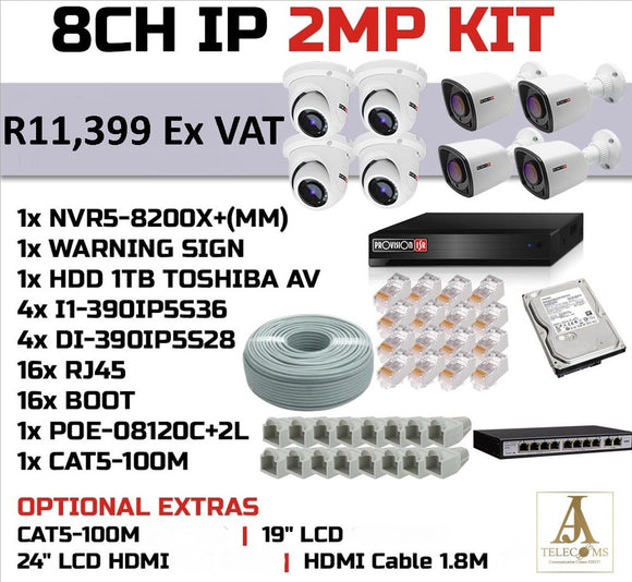 8CH IP 2MP KIT