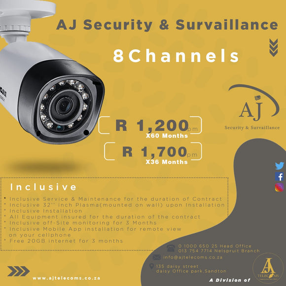 Aj Security & Surveillance (8 Channels Equipment Rental)